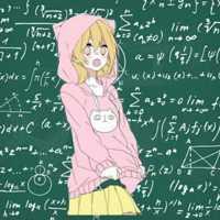 带有数学公式动漫恋人头像