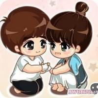 一对韩国非常有爱又爱的卡通情侣头像