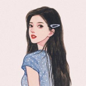 气质手绘少女甜美头像