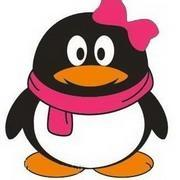 腾讯女企鹅头像大全头上戴蝴蝶结花