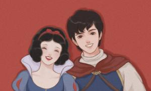迪士尼公主王子情侣头像