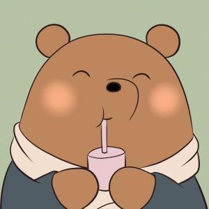 三只小熊基友闺蜜头像 