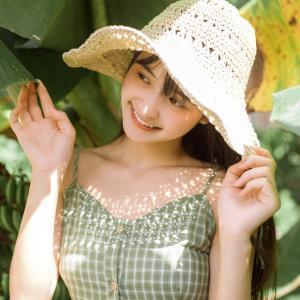 戴帽子的漂亮少女头像