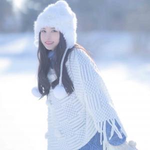 唯美雪地美女头像