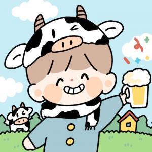 超可爱的牛年情侣头像