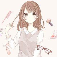 久居深海我匿名孤独 唯美长发女生卡通QQ头像
